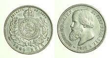 pcc1249_12) BRASILE BRAZIL 1000 REIS 1876  SILVER  TONED
