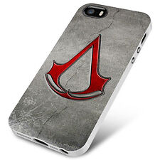 Assassins Creed Logo  for iPhone 4/4S 5/5S 5C 6 6S Plus Hard Case tr3