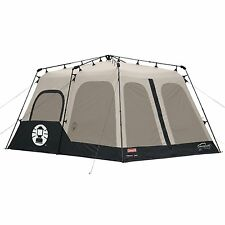 COLEMAN 8-Person 2-Room 14'x10' INSTANT TENT -BLACK ( WATERPROOF VERTICAL WALLS)