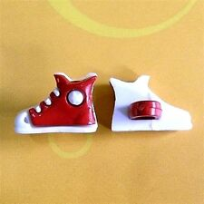 20 Football Shoes Sport Dress It Up Kid Sweater Sewing Buttons Red K727