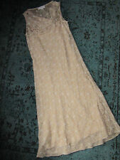 CALVIN KLEIN tan SILK  dress size 10 party wedding cocktail