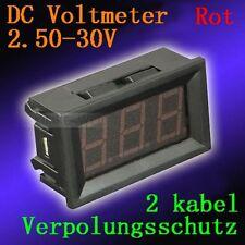 DC 2,5-30V Rot Led Digital Voltmeter Spannungsmesser Voltanzeige Panel Meter