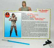 1995 Star Wars POTF 2 Power of the Force LUKE SKYWALKER Dagobah Short Saber C9++
