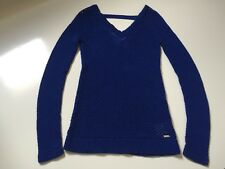 EUC GUESS ROYAL BLUE LADIES KEYHOLE LONG SLEEVE SWEATER SIZE M