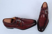 Magnanni  ' Mauricio' Monk Strap- Brown- Size 9.5 M/ Labeled 9 M  $325  (G1)