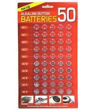 Nuevo 50 Surtidos Botón Celular Pilas De Reloj Ag 1 / 3 / 4 / 10 / 12 / 13 Sellado