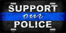 Support Our Police Thin Blue Line Metal Novelty License Plate