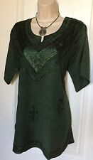 Women's Tunic Top Blouse Top Dress Top Size Large New Embroidered