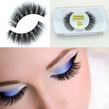 Lady Black Luxurious 100% Real Mink Long Natural Thick Eye Lashes False Eyelashe