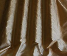 "Beige/Gold Tissue Taffeta Jacquard 100% Silk Fabric, 44"" Wide, By Yard (JD-501D)"