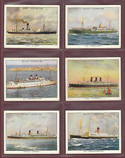W.D. & H.O. WILLS  LTD. - SET OF L 30 CARDS - FAMOUS BRITISH LINERS 1ST  -  1934