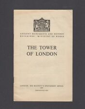 Vintage 1951  TOWER OF LONDON GUIDE & MAP pamphlet