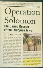Middle East-Israel-Airlift-Ethopia-Civil War-Rescued Jews-Operation Solomon!