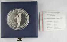 Hungary 1980 500 Forint Piefort Proof 78 Gram Silver Coin Olympics +Box & Coa