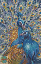Cross Stitch Kit ~ Plaid-Bucilla You Are Unforgettable Colorful Peacocks #45963