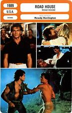 Fiche Cinéma. Movie Card. Road House (USA) 1989 Rowdy Herrington