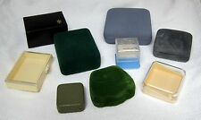 Lot 9 Vintage Jewelry Boxes Display's Velvet Paper Hard Plastic Retro Fun! T50