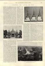 1893 Bangkok il capitale SIAM stato Cappelli