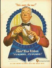 1947 Vintage ad for Pabst Blue Ribbon Beer/Neat illustration (061113)