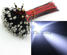 20PCS LED 3mm DC 12V Led Lamp Clear pre-wired with Resistors Cold White Light