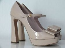 MIU MIU BY PRADA HIGH HEELS MARY JANE VERNICE PUDER GR:41 NEU !!!