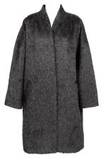 Eileen Fisher Project High Collar Suri Alpaca Wool Coat Charcoal XL $698 New