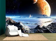 Sky Planets Space Rocks Dark Star Wall Mural Photo Wallpaper GIANT WALL DECOR