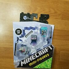 Minecraft Mini-Figure 3-Pack Ice 5 Series DPY68 WOLF W/ BONE ENDERMAN SKELETON