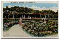 1920 Postcard Pre 1800s View Humboldt Park Chicago Illinois Unposted