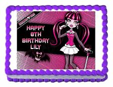 Monster High Draculaura party edible cake image cake topper decoration
