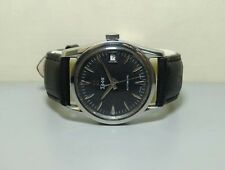 VINTAGE Edox Automatic DATE SWISS MADE WRIST WATCH r19 Old used antique