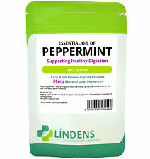 Oil of Peppermint 100 Capsules Digestive Aid/Indigestion/Wind/Alleviate Bowel
