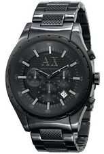 Armani Exchange AX1058 Black Dial Black Stainless Steel Chronograph Men's Watch