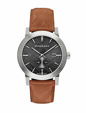 Burberry BU9905 The City Brown Leather Black Dial Silver Dial 42MM AUTHENTIC NEW