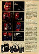 1984 ADVERT Toy Michael Jackson Music Makers Microphone Radio Transformer Robots