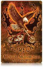 Motorcycle Eagle Biker Metal Sign Man Cave Garage Shop Club Barn Shed LWT053