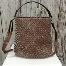 NEW GERRY WEBER Woven Metallic Shopper Shoulder Bag & Pouch Bronze Large 42253