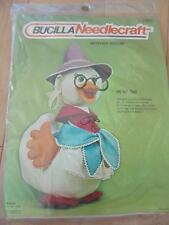 BUCILLA NEEDLECRAFT MOTHER GOOSE DOLL KIT STAMPED COTTON FABRIC AND FELT NEW