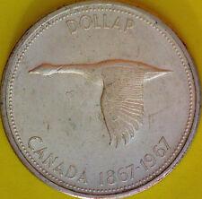 1967 Canadian Silver Dollar Centennial $1.00 Canada Silver 23.33 Grams #1