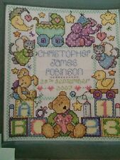 Baby Welcome To The World Sampler & Card Cross Stitch Chart