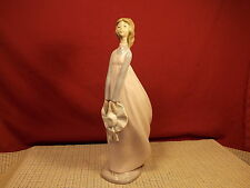 Nao By Lladro Figurine Girl Holding Hat 13""
