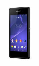 "Sony Xperia E3 Black Smartphone 4.5"" Screen 5MP Camera 4GB Memory Unlocked SR/BB"