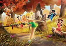 "Wall Mural Wallpaper - ""DISNEY FAIRIES"" Tinker Bell photo decor for kids bedroom"