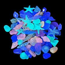 Colorful 10pcs Glow in The Dark Luminous Stones Pebbles For Fish Tank Aquarium