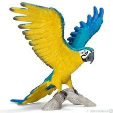 Schleich #14690 Blue and Yellow Macaw, Toy Collectible Bird