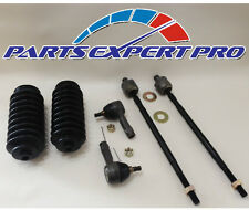 93-02 MITSUBISHI MIRAGE TIE ROD END SET INNER OUTER STEERING BOOTS SUMMIT COLT