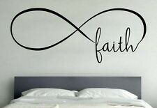 FAITH INFINITY LOVE Wall Art Decal Quote Words Lettering Home Decor DIY Sticker