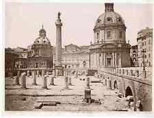 Italie, Roma, foro Trajano  Vintage albumen print  Tirage albuminé  18x24