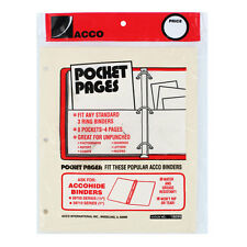 """Acco Ring Binder Pocket Pages, Manila"""