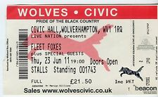 Fleet Foxes - Concert Ticket - Wolverhampton 2011